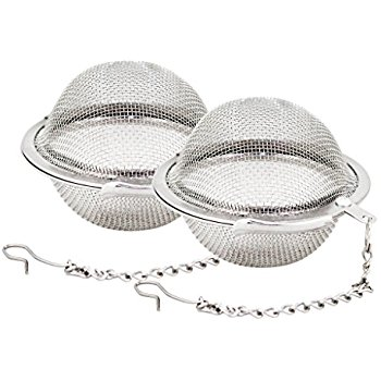 A double set of classic tea strainers - this style is my personal favorite