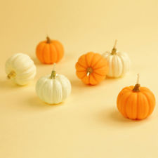 Go full pumpkin with these 100% beeswax, non-scented, and pumpkin-shaped candles crafted from a farmer's market pumpkin