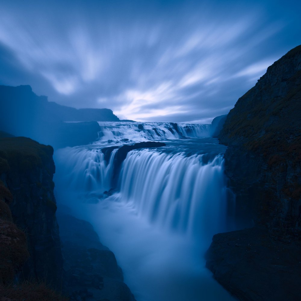 Gullfoss at dusk