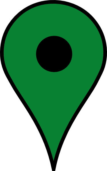green map pin