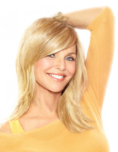 CB FULL SWEEPING SIDE FRINGE CLIP-IN BANG by CHRISTIE BRINKLEY
