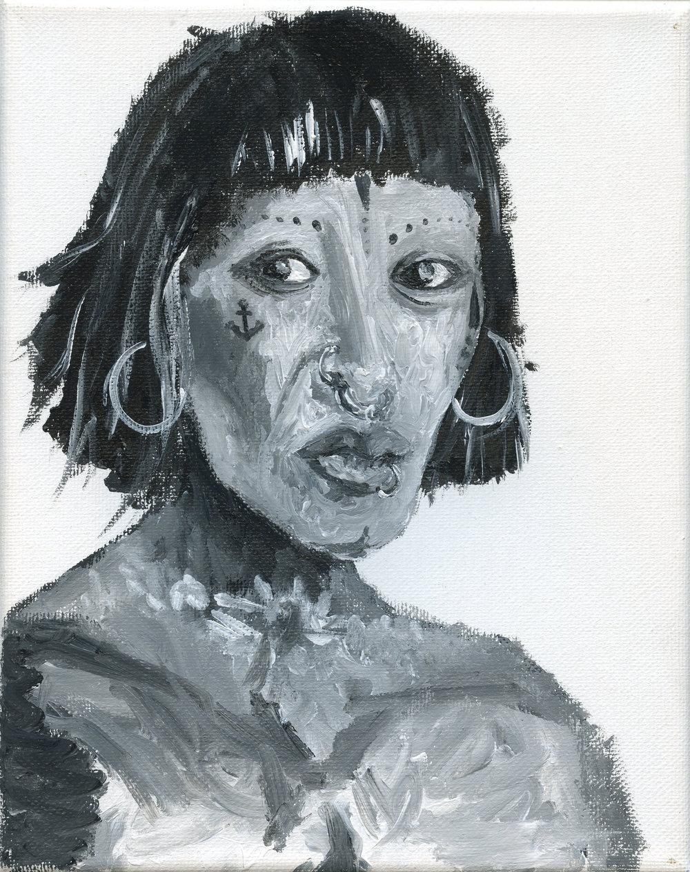 Black & White Acrylic Study