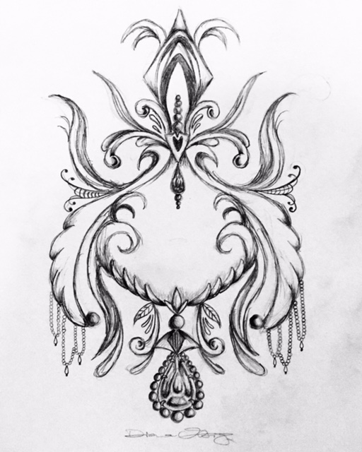Stomach Tattoo Design