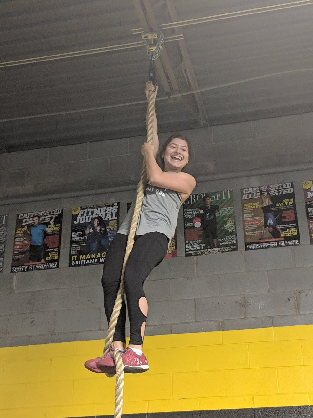First Rope Climb!