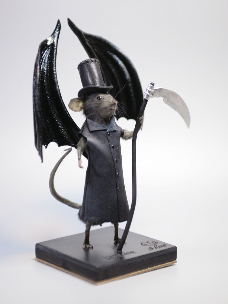 Grim Reaper Taxidermy Mouse by Le Heart Designs