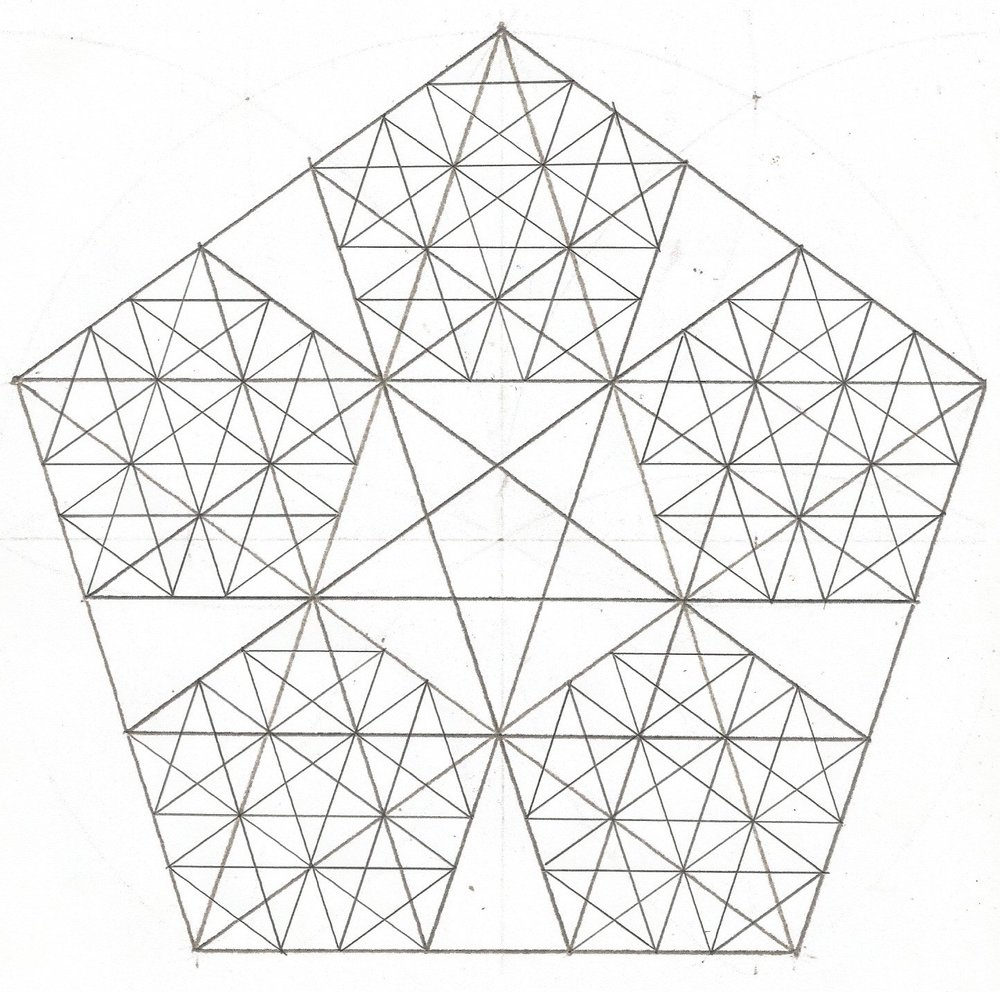 CROSS SECTION OF THEORETICAL 3RD LEVEL FRACTAL STELLATED DODECAHEDRON