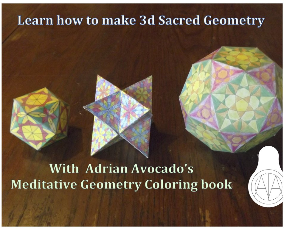 color any way you like and make your own 3d sacred geometry with my coloring book available on  amazon.com