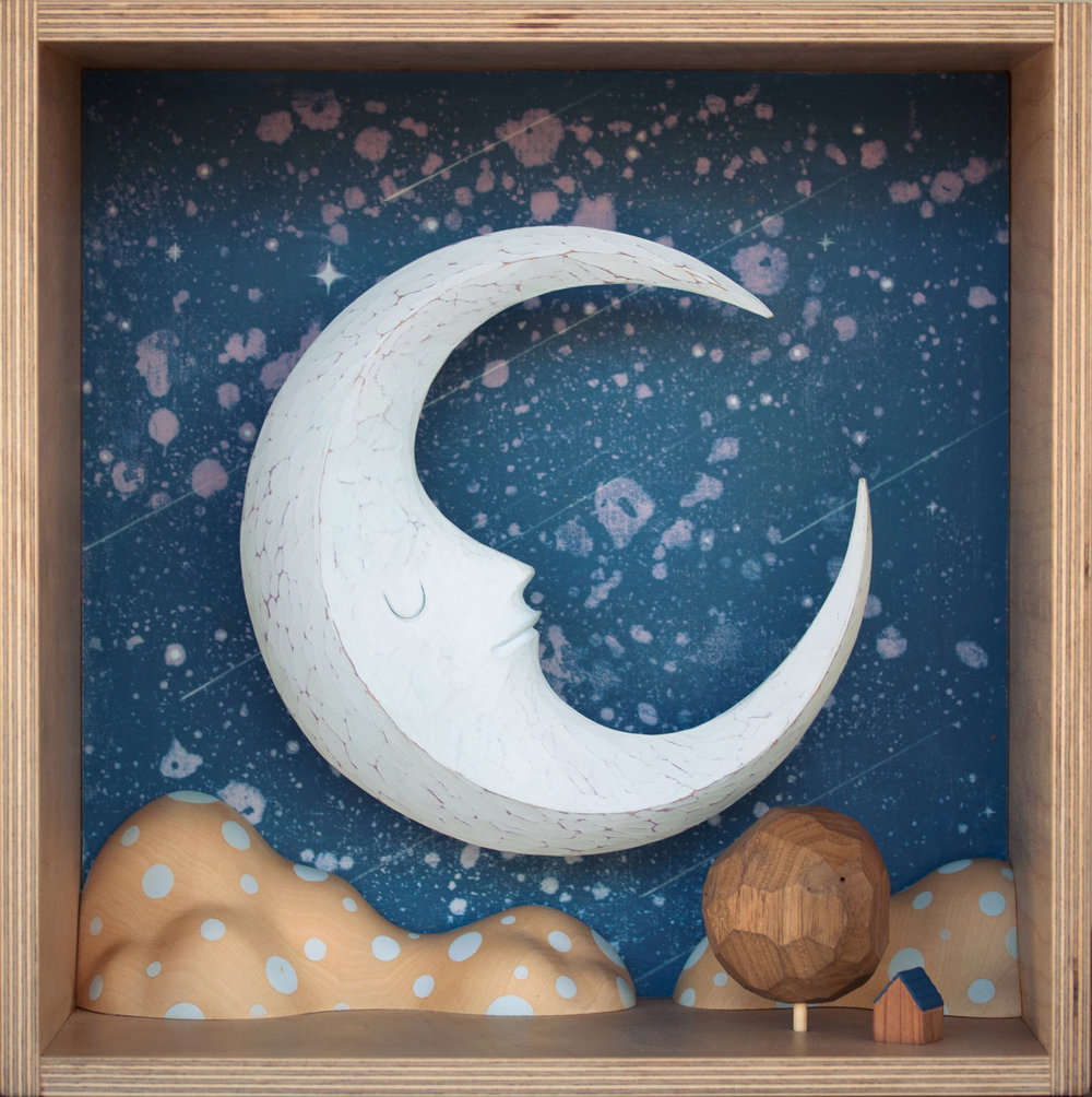 """pale blue present moon""  2015"