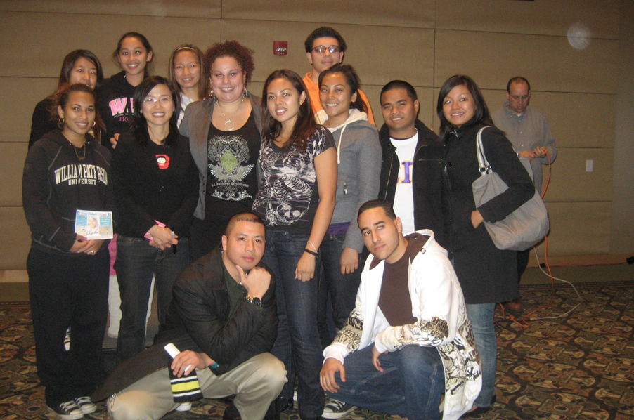 Lela Lee with students from William Paterson University in 2007.