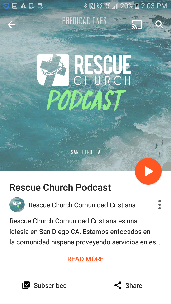 rescue church podcast google play