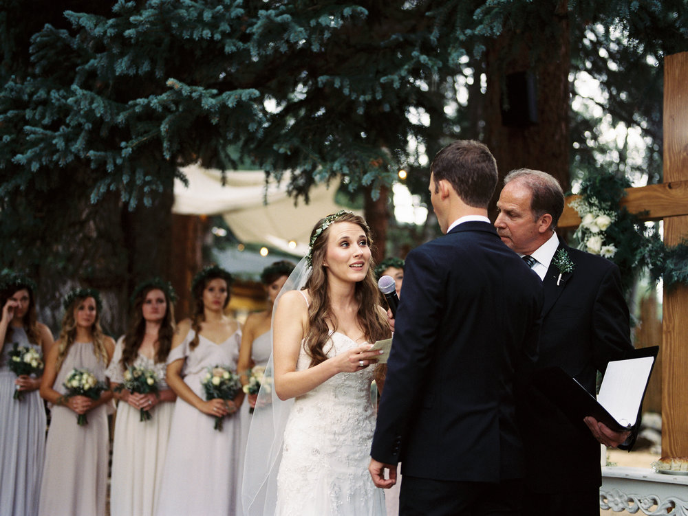 colorado wedding photography on film