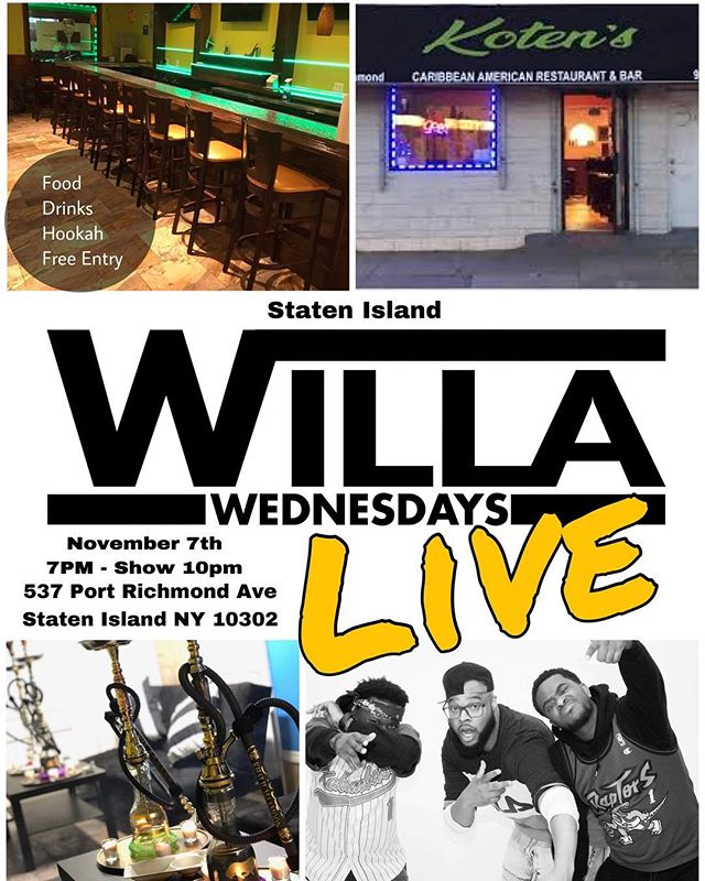 We Bringing the party across the water!! Staten Island what's good! Swing thru!! We live tonight!!!