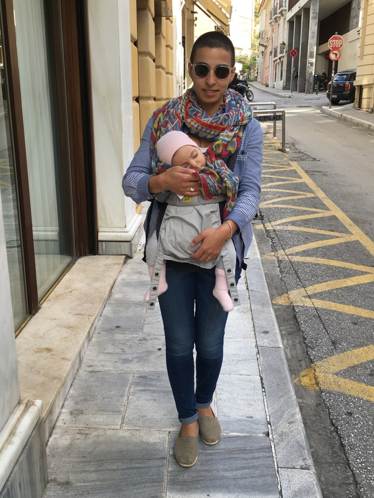 Strolling through the streets of Athens while baby naps.