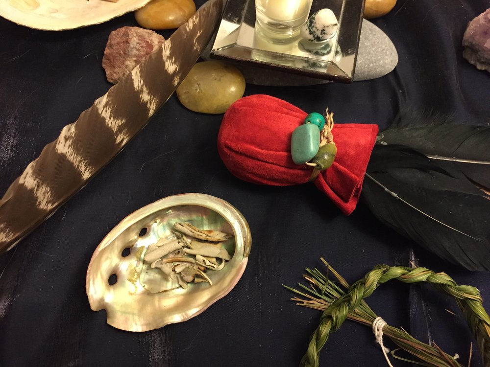 I've cleared this space for you with sage and sweetgrass. May your journey be pure and sweet. May it open your eyes to all that is available to you. Please settle in.