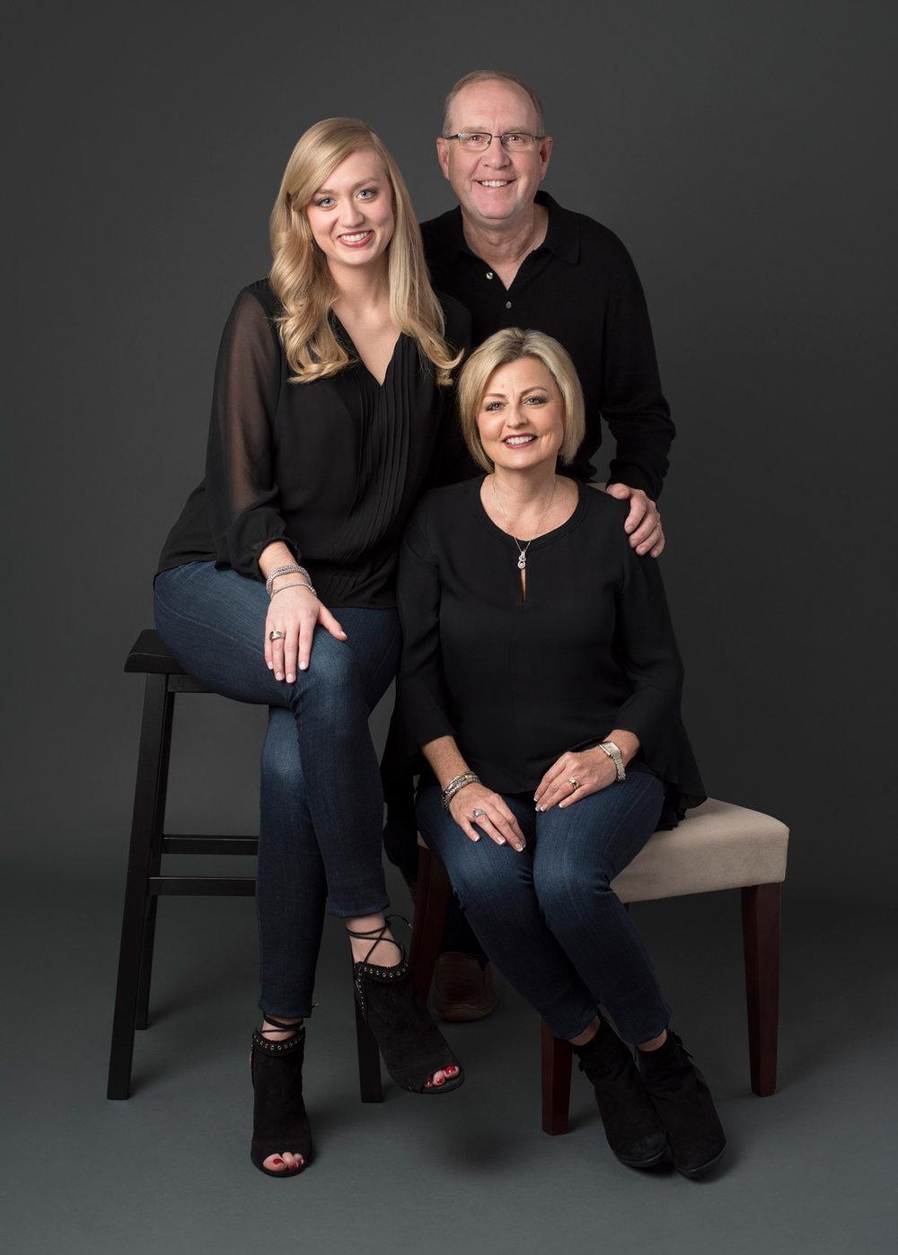 Family studio portrait