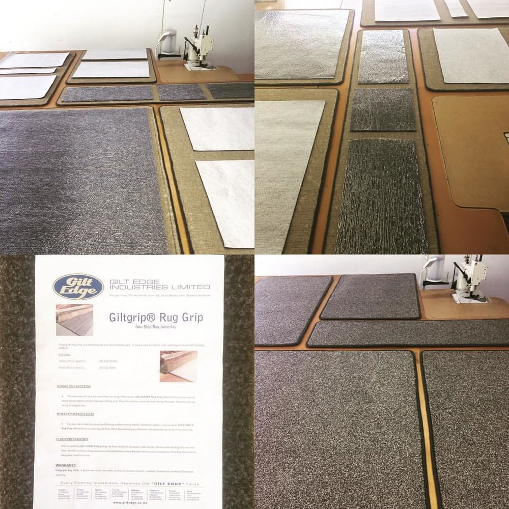 Hibiscus Mats stocks & applies Giltgrip Non-Skid Rug Underlay