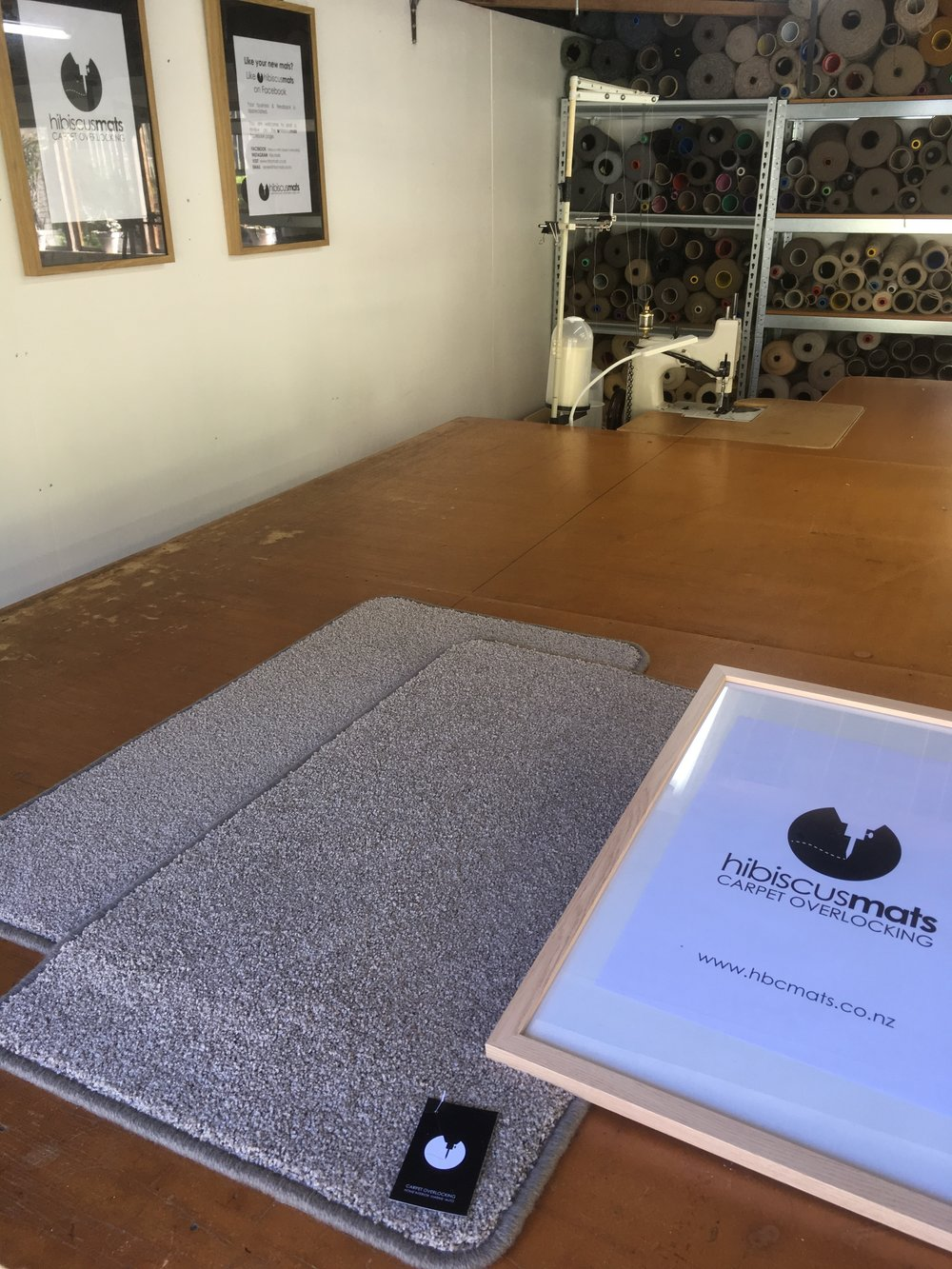 Carpet Mat 0.90m x 0.50m by Hibiscus Mats Carpet Overlocking $25 - - Measures 0.90m x 0.50m- Colour: Taupe- Rounded corners to prevent curling- Can be gripped with Giltgrip Rug Grip for an additional fee