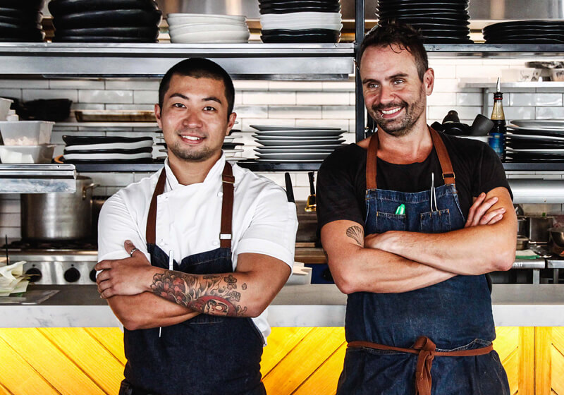 Allan & Raf lead the kitchen team at Henrys, Cronulla.