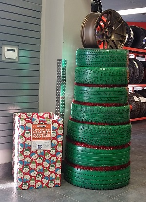 Kaltire christmas tire tree