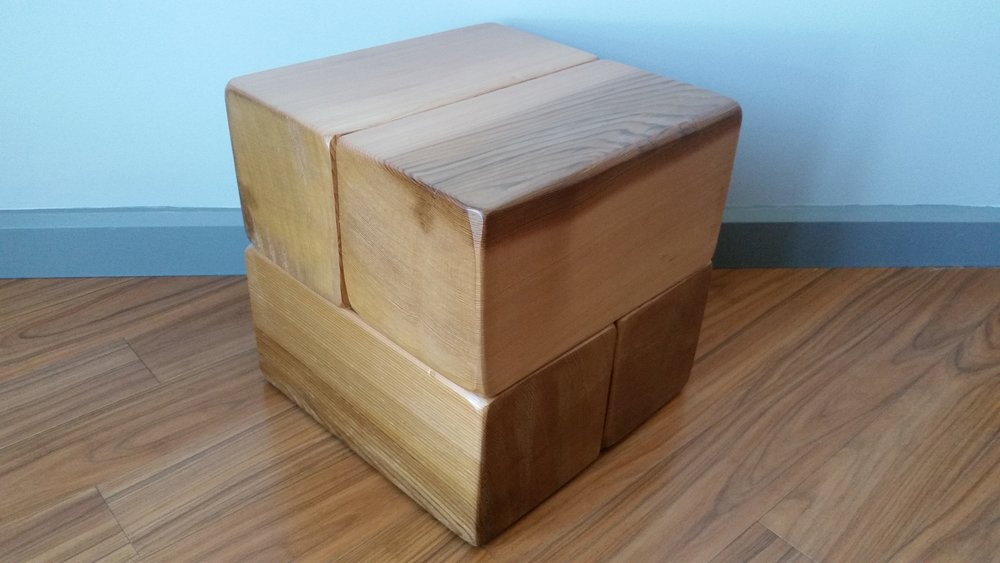 16x16 end bedside table