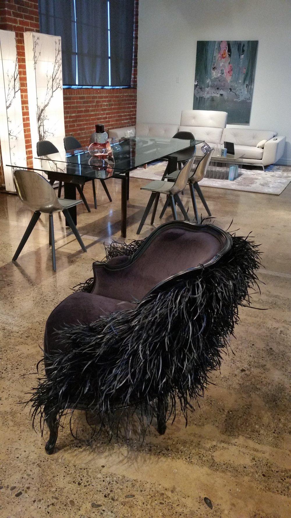 Swan bergere chair