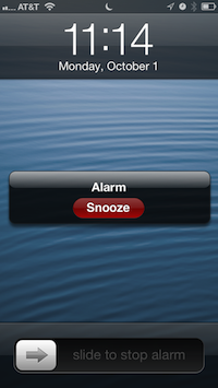 Press the snooze button...