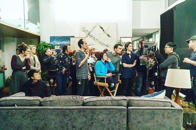 Directors, DOP, stunt coordinator, crew, first AD, make up, 1st AC, producers all staring at the monitor... can you sense the intensity in the air?  #Throwback to the set days we had on @ccshortfilm with a group of amazing people. . . . . #onset #setproduction #ccshortfilm #crazy8s #crazy8sfilms18 #film #quietonset #firstac #dop #director #directorofphotography #cc
