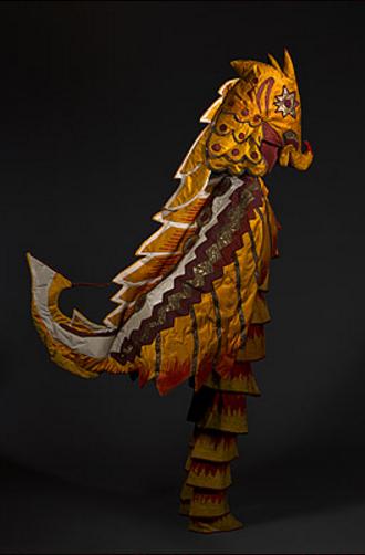 Goncharova, N. Costume for a seahorse. 1916.