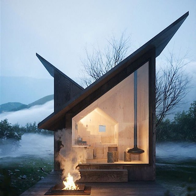 Just love this cabin by architect ( carpinto ) by #massimognocchi it is truly fabulous and I want one @chillderness.escapes @chillderness_dreambuilder @chalet_1864 @cabinporn