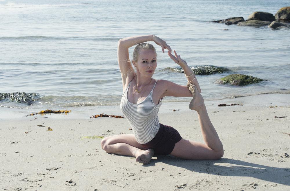 Mermaid pose- en gjentagende favoritt stilling.