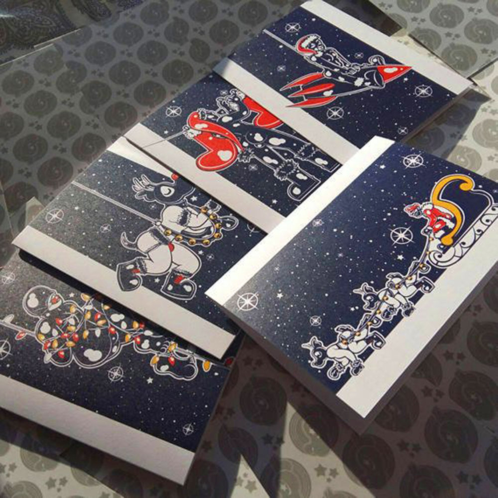 Christmas Card 2017  Five christmas cards designs I sold during the 2017 holiday season
