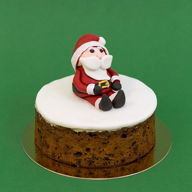 One of our many #Christmas #treats now available at P&B Bakeries.  #santa #christmascake #greatportlandstreet #wellingtonstreet #hammersmith #greenwich #stgiles