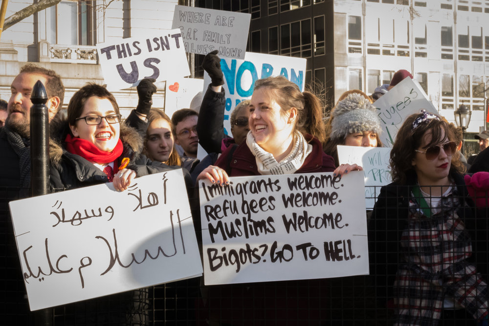 """Immigrants Welcome; Refugees Welcome"""
