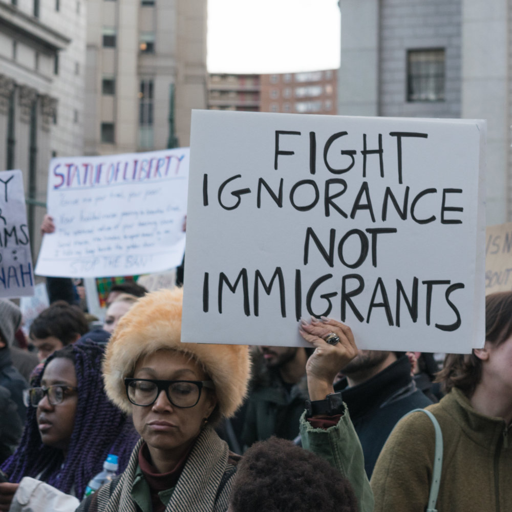 """Fight Ignorance Not Immigrants"
