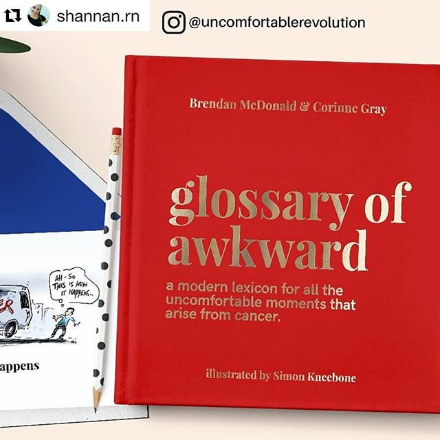#Repost @shannan.rn with @get_repost ・・・ @uncomfortablerevolution is a quirky and sometimes irreverently funny online lifestyle magazine that wants to change the way we talk about #chronicillness and #disability. They don't offer medical advice & instead focus on the social and emotional aspects of living with an illness or disability. . . #uncomfortablerevolution Is currently running a #Kickstartercampaign for their new book *Glossary of Awkward: the urban dictionary of cancer ➡ a quirky collection of illustrations that define #lifewithcancer. The book is designed to help people have better conversations about cancer and learn how to be there for a loved one who is ill. .  Right now you can receive a wonderful pack of 5 #greetingcards for people with #cancer in exchange for a $10 pledge at  bit.ly/GlossaryOfAwkward 😆clickable link in my bio & blog. . . . . . . . ❤ #sponsored #cancersucks #cancerfree #cancerfighter #cancermom #cancercare  #cancerlife  #cancerfight #BoldAndProud #MyCancerDiaries #FightWithPositivity  #ChemoTherapy #BreastCancer #hodgkinslymphoma #lifeaftercancer #chemotherapy #chemohair #beatcancer #cancercommunity  #cancerbooks  #registerednurse, #rn