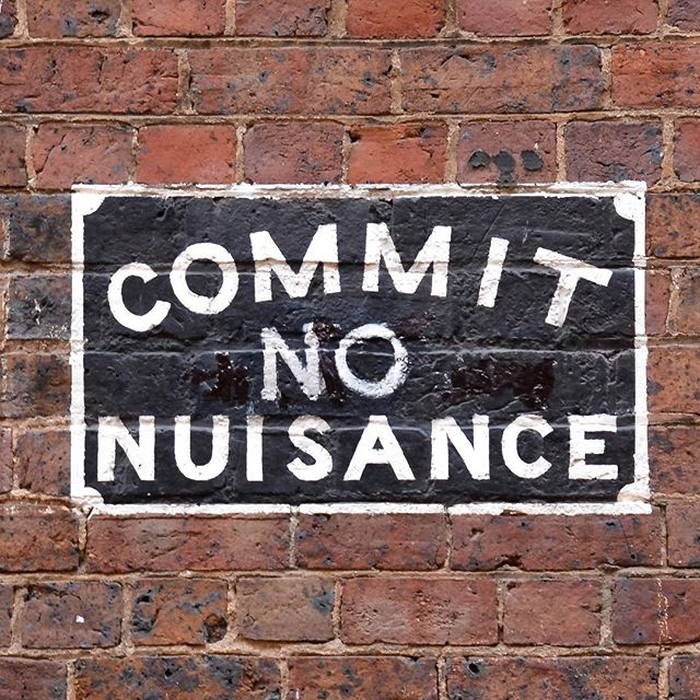 """Commit No Nuisance,"" a warning against performing improper acts, most commonly, urination in Melbourne alleyways ... #melbourne #melbournealleyways #chinatownmelbourne #heffernanlane #commitnonuisance #oldsigns #melbournestreetart #streetsigns"