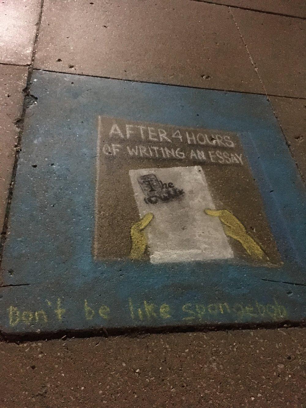 Spongebob's advice for the kiddies at Morton College