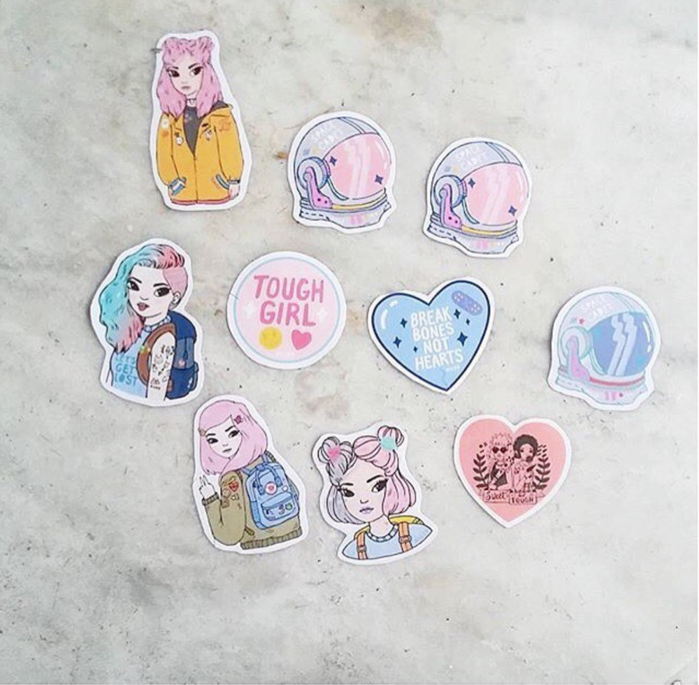 Cassy Kicks Pastel stickers + pins Instagram »