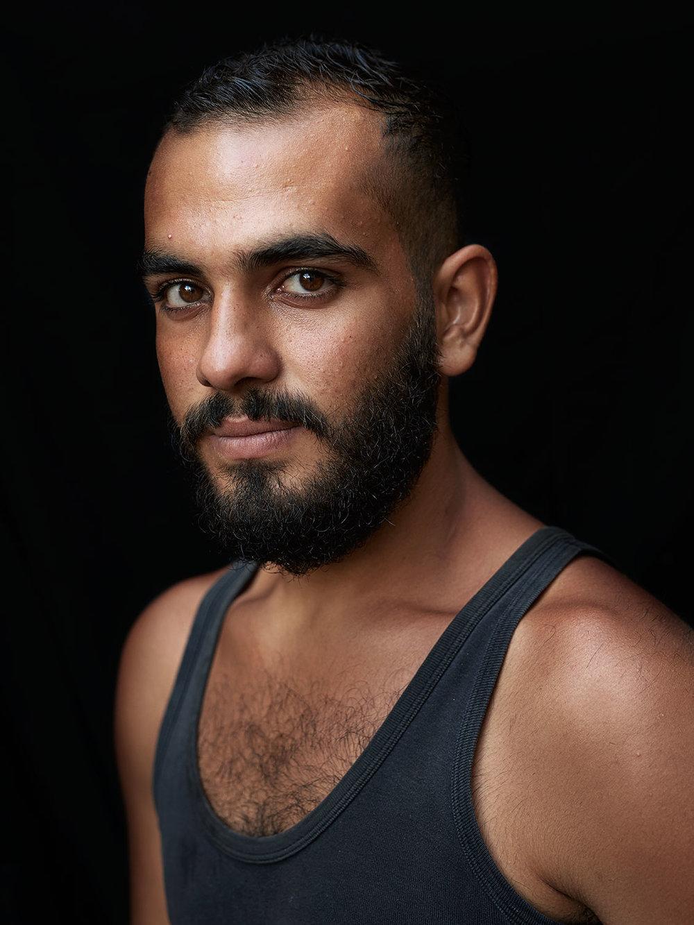 Ahmad /  Syria / Refugee / Was a barber in Syria / Chios, Greece /