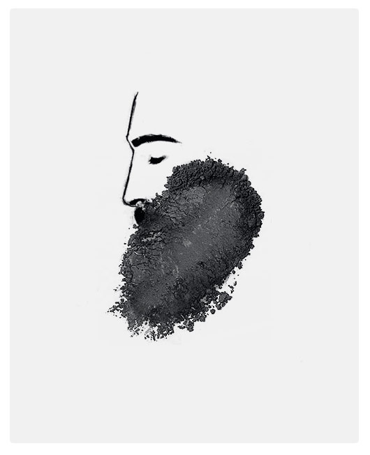 Overshadowed This Man Filled in His Beard With Eye Shadow