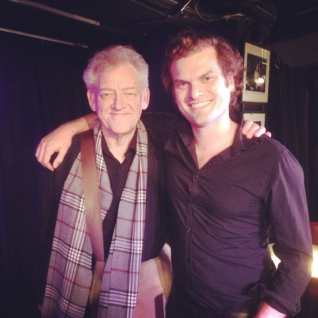 With the maestro himself, John Taylor….I hope he didn't mind me borrowing some of his chords!