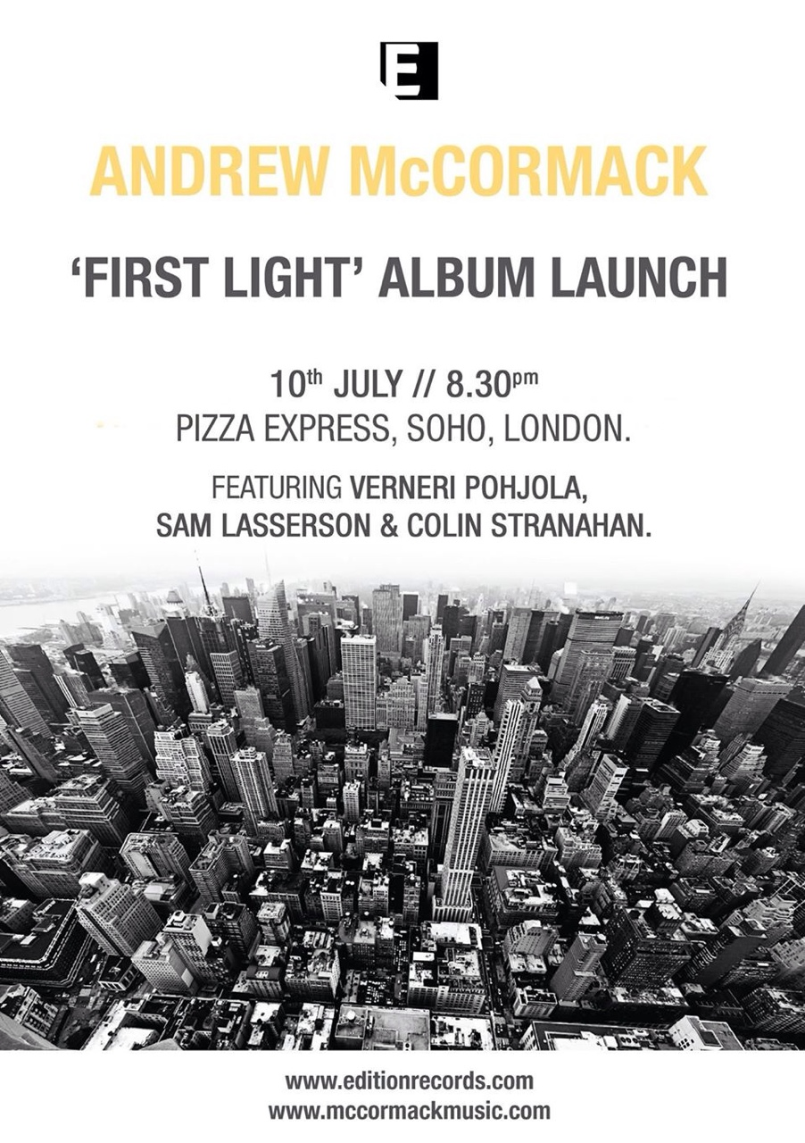 FIRST LIGHT album launch 10th July 2014 London