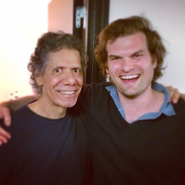 Great to hang with the man himself after his solo show at the #barbican @chickcorea !