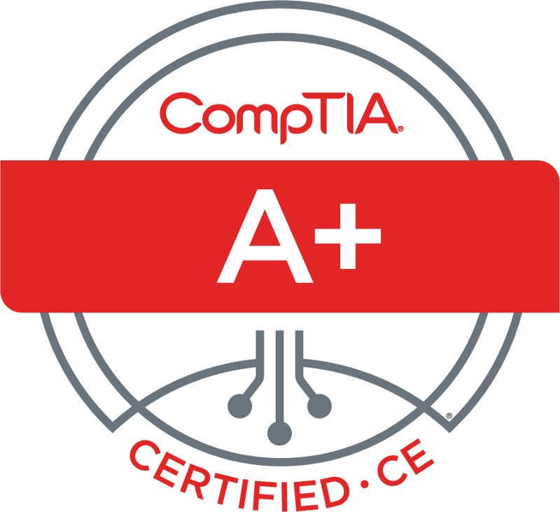 CompTIA A+ Certified - IT success stories start with CompTIA A+ certification. It validates understanding of the most common hardware and software technologies in business and certifies the skills necessary to support complex IT infrastructures. CompTIA A+ is a powerful credential that helps IT professionals worldwide ignite their IT career.