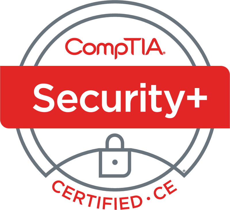 CompTIA Security+ Certified - CompTIA Security+ is the certification globally trusted to validate foundational, vendor-neutral IT security knowledge and skills. As a benchmark for best practices in IT security, this certification covers the essential principles for network security and risk management – making it an important stepping stone of an IT security career.