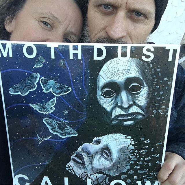 We have vinyl!!! 🖤 If you've already ordered one, it's in the mail today! . If you'd like to order a copy, visit Callow.bandcamp.com (link also in profile.) Cheers and Happy Holidays! Red & Sami #callow #mothdust #vinyl #newmusic #dreamdoom #lp #record