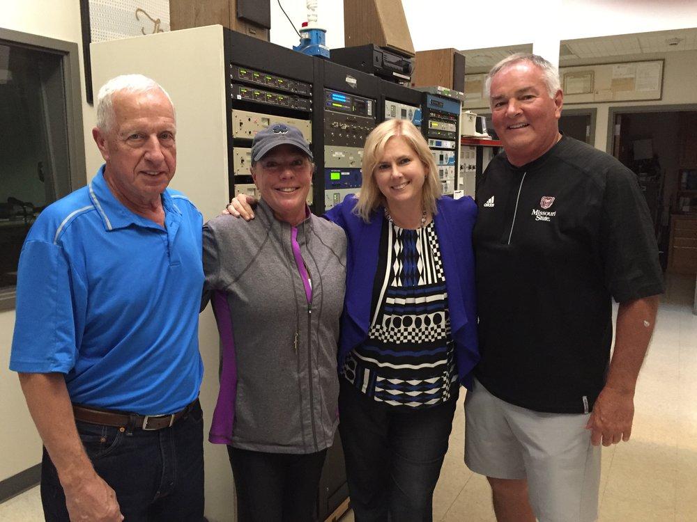 Coach Roy Green, Cathy Reynolds, Coach Mike Keltner