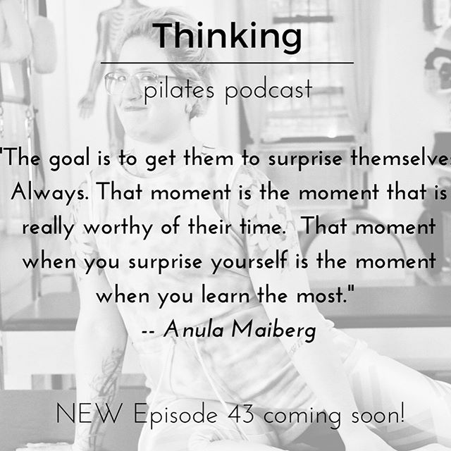 It's not every day you get to interview your friend ... and it's even rarer when it turns out THIS good! Thank you @sixthstreetpilates for being you and for being honestly open. Thank you @chantilllopez @skillfulteachingpilates for inviting me along this journey. Really looking forward to hearing what you all think of this episode of The Thinking Pilates Podcast. #pilates #podcast #artinmovement #justshowup #ModernPilates