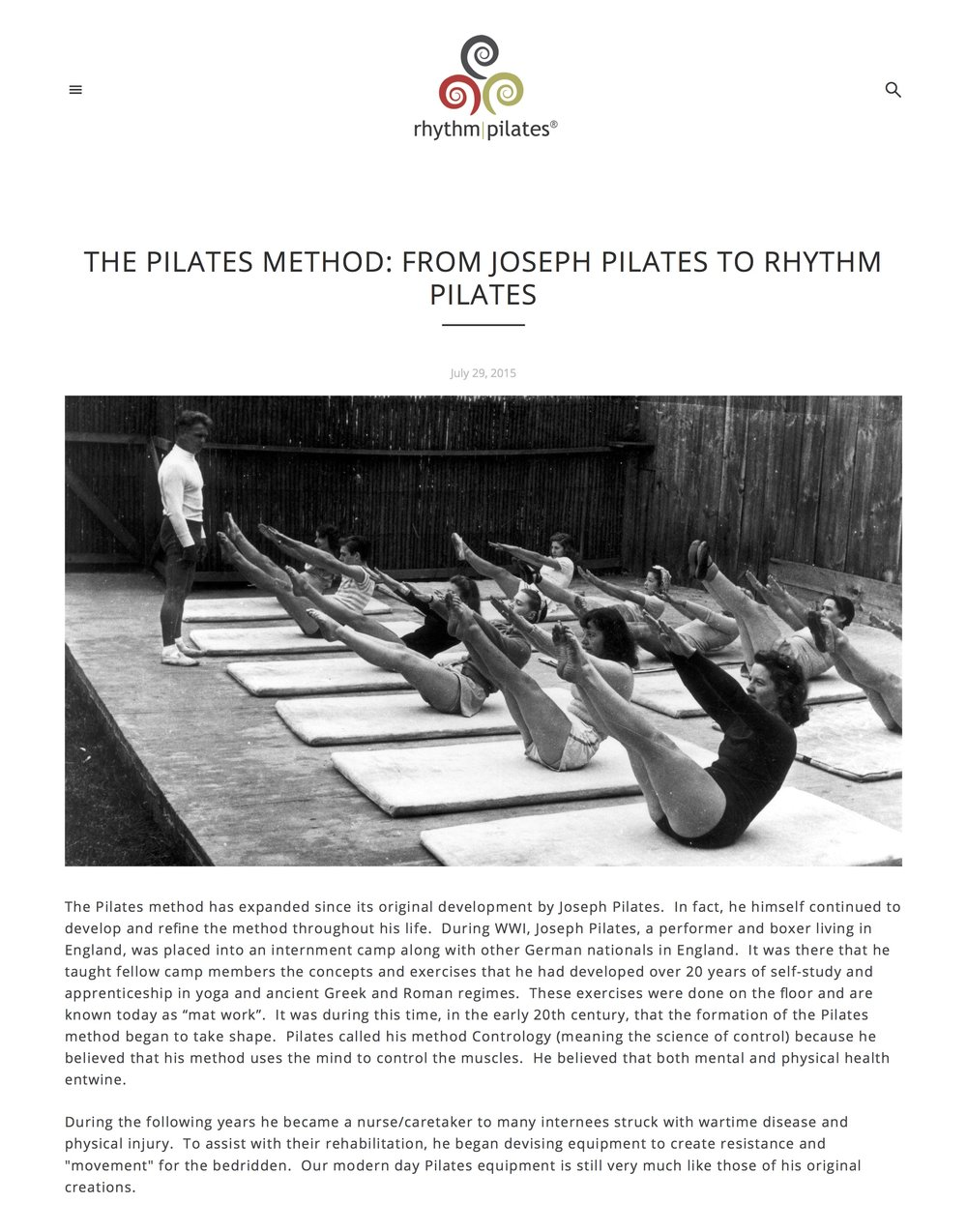 The Pilates Method: From Joseph Pilates to Rhythm Pilates — Rhythm Pilates® copy.jpg