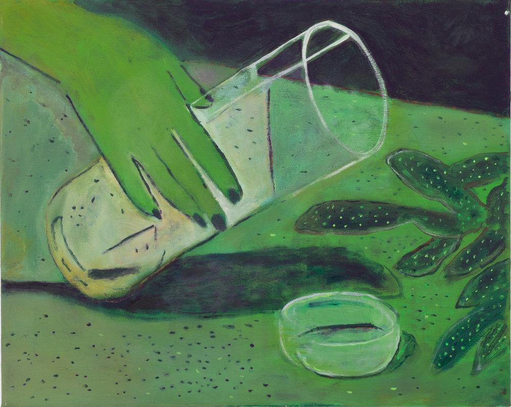Zach Bruder  Terraform   2016   Acrylic and Flashe on canvas 40 x 50,8 cm   16 x 20 in